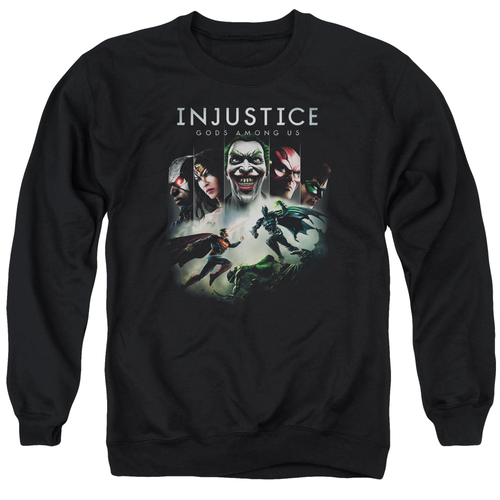 Injustice Gods Among Us Key Art Mens Crewneck Sweatshirt