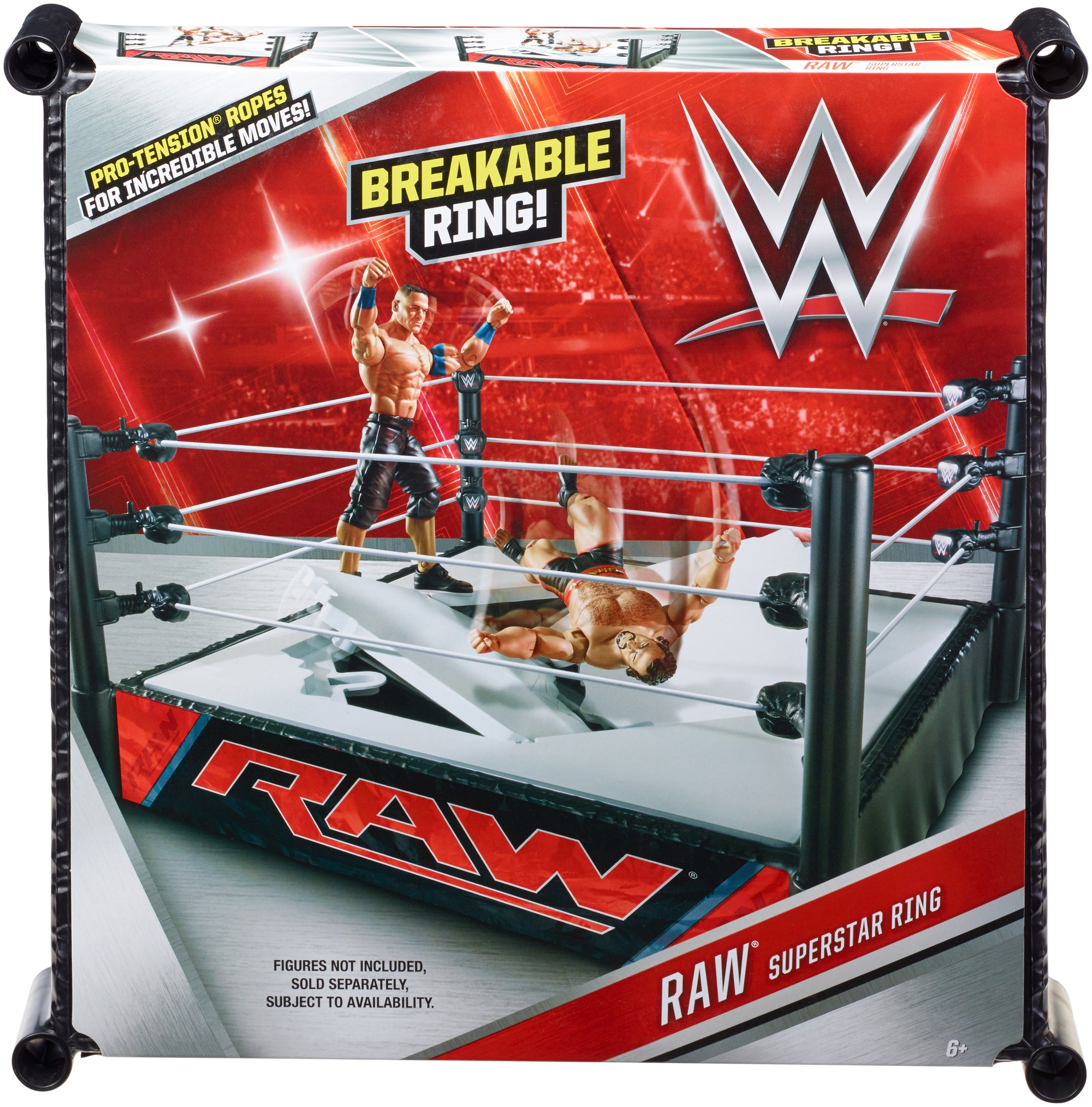 WWE Superstar Ring With 2 Swappable Ring Skirts Set