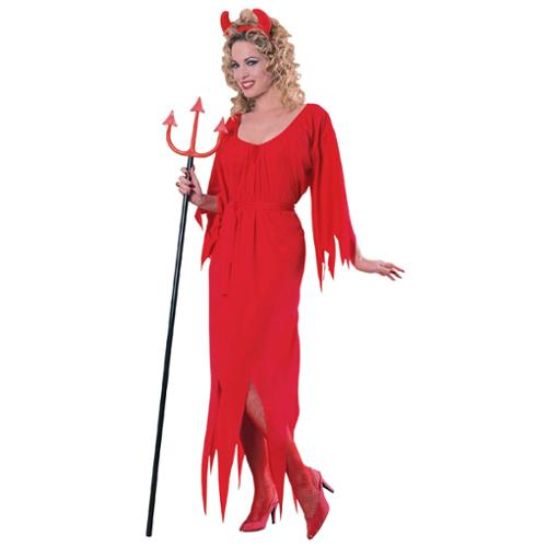 Devil Dress Adult Halloween Costume - One Size Up to Women's 12