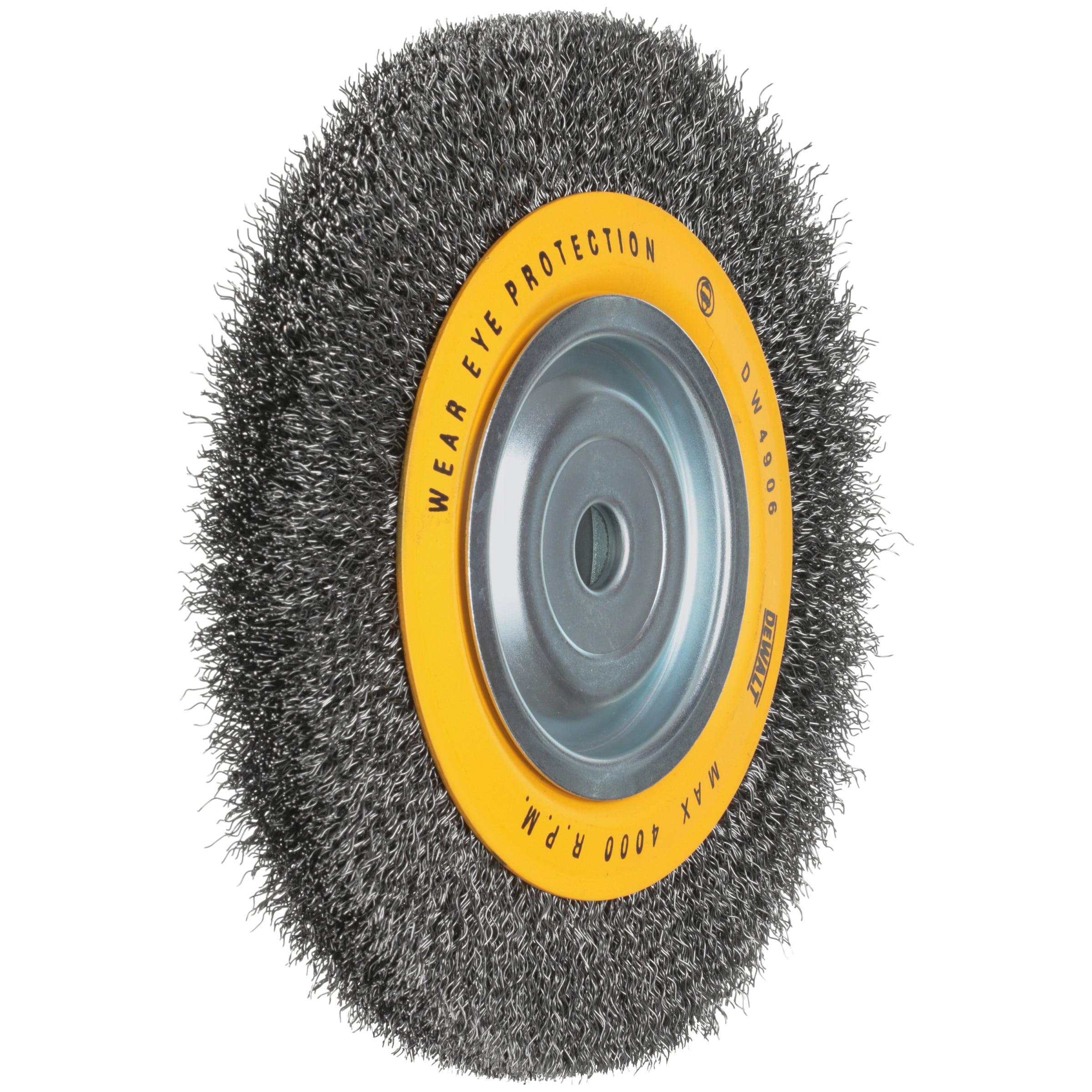 DEWALT DW4906 8-Inch Crimped Bench Wire Wheel 5//8 Arbor Medium Face.014-Inch Wire