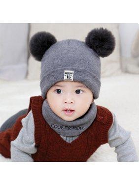 New Autumn Winter Christmas Hat Baby Boys Girls Hat Warm Windproof Wool Hat Toddler Kids Boy Girl Children's Lovely Cute Soft Beanie Hat Cap
