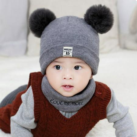8366b9433d5 Coxeer - New Autumn Winter Christmas Hat Baby Boys Girls Hat Warm Windproof  Wool Hat Toddler Kids Boy Girl Children s Lovely Cute Soft Beanie Hat Cap  ...