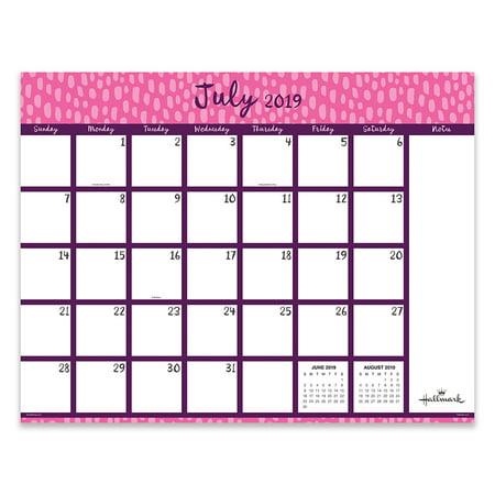 July 2019 - June 2020 Pretty Patterns Large Desk Pad Monthly Calendar
