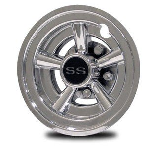 95ba9d6af28 Chrome Golf Cart SS Wheel Covers 8