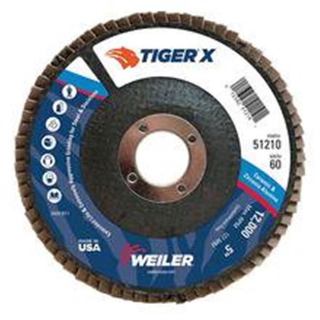 Weiler 804-51210 5 in. Formerly Tiger Premium Flap Discs, 60 Grit - image 1 of 1