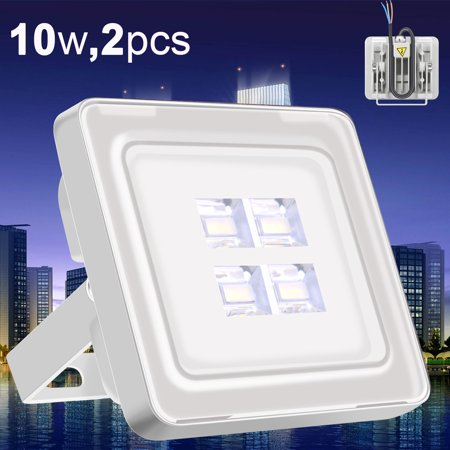 2X Viugreum 10W LED Floodlight Outdoor Landscape Park Lamp Cool White Upgraded