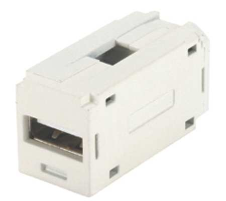 Panduit CMUSBAAIW Mini-Com USB Coupler Module, Off White