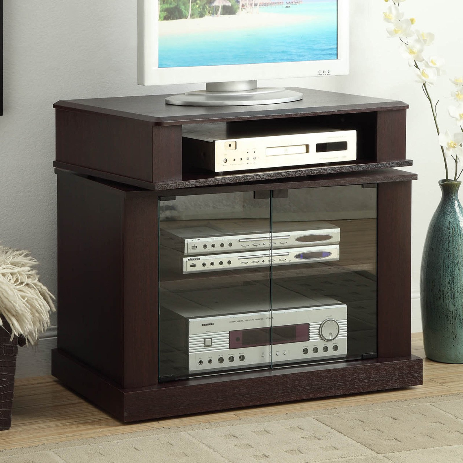Cherry TV Stand with Swivel Top, for TVs up to 32