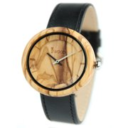 Wooden Watches for Men Women Personalized Watches Anniversary Birthday Watch for Husband Wife Boyfriend Girlfriends Leather Strap Watch, Christmas New Years Gift for Men Women