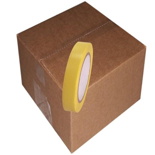 Yellow Vinyl Tape 3/4 inch x 36 yd. Roll 64 Roll Case