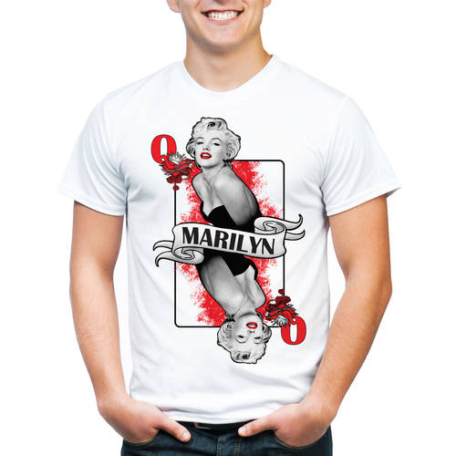 Marilyn Monroe Playing Card Men's Graphic Tee
