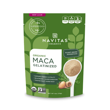 Navitas Organics Gelatinized Maca Powder, 4.0 Oz, 25