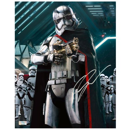Gwendoline Christie Autographed Star Wars: The Force Awakens 8x10 Captain Phasma Stormtooper Commander (Autographed Collectibles)