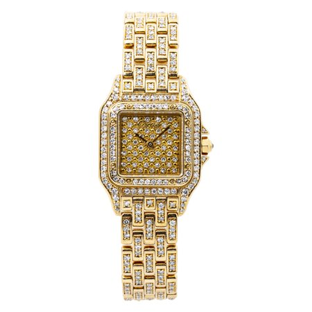 Pre-Owned Cartier Panthere 8057917 Gold Women Watch (Certified Authentic & Warranty)