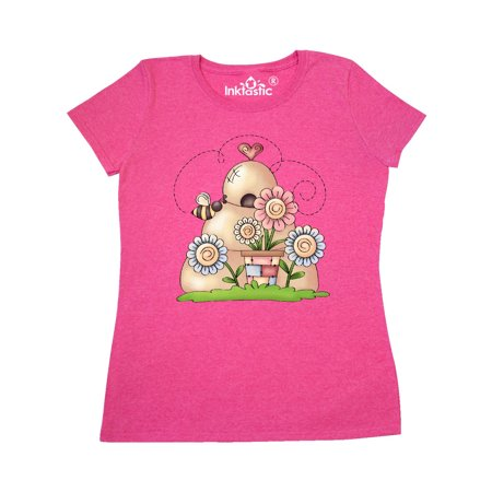 Spring Beehive with Bumble Bee and Flowers Women's T-Shirt