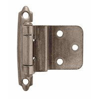 3/8in (10 mm) Inset Self-Closing, Face Mount Weathered Nickel Hinge - 2 Pack
