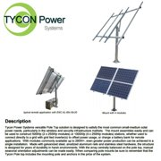Tycon (TPSM-250x4-TP) Top of Pole Mount for Two or Four 250W Solar Panels
