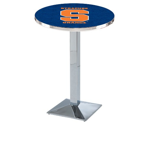 NCAA Pub Table by Holland Bar Stool, Chrome - Syracuse Orange, 42'' - L217