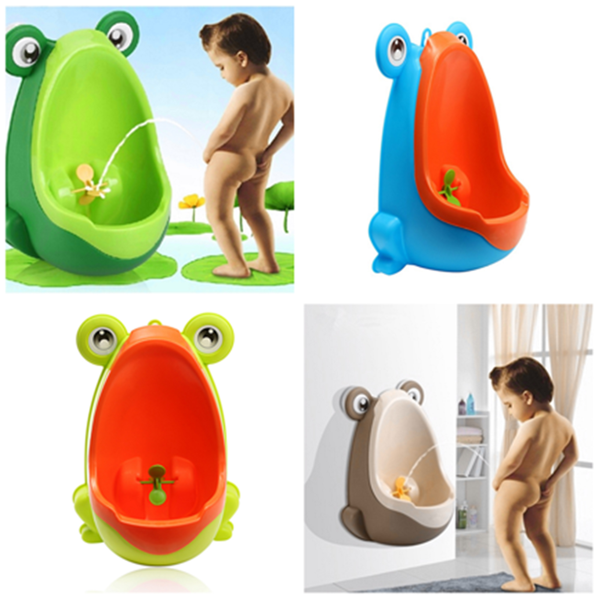 Baby Potty Training Little Boys' Urinal Bathroom Hanging Pee Trainer Frog