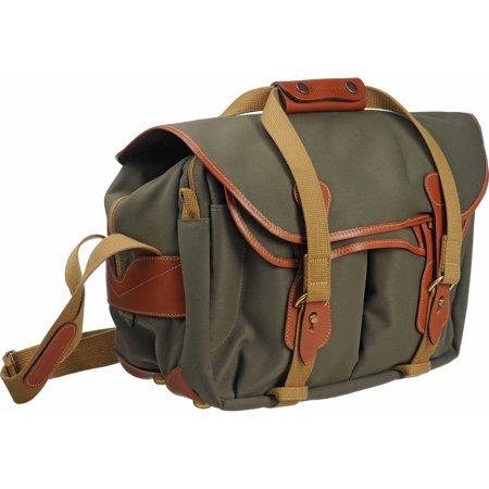 Billingham Bags (Billingham 335 Shoulder Bag - Sage FiberNyte/Tan Leather)