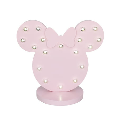 Disney Room Decor (Disney Minnie Mouse Standing Marquee Lighted Room Décor with 3D Bow,)