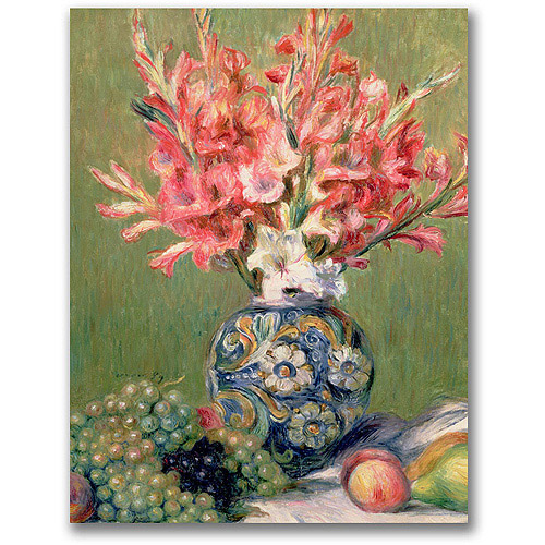 "Trademark Fine Art ""Still Life Of Fruit And Flowers"" Canvas Wall Art by Pierre Renoir"