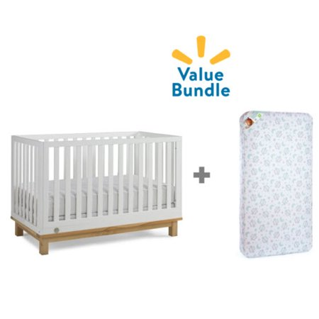 Fisher-Price Riley Convertible Crib + Mattress Value Bundle ()