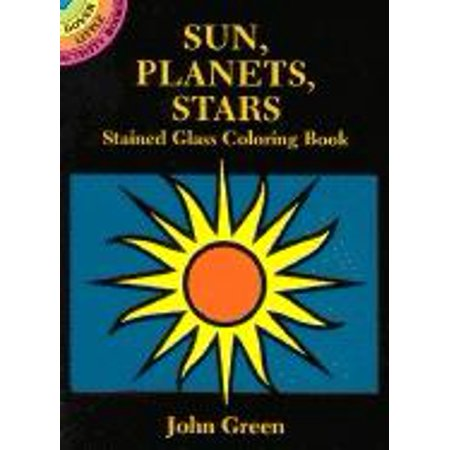 Dover Little Activity Books: Sun, Planets, Stars Stained Glass Coloring Book (Paperback)](Stained Glass Coloring Pages)