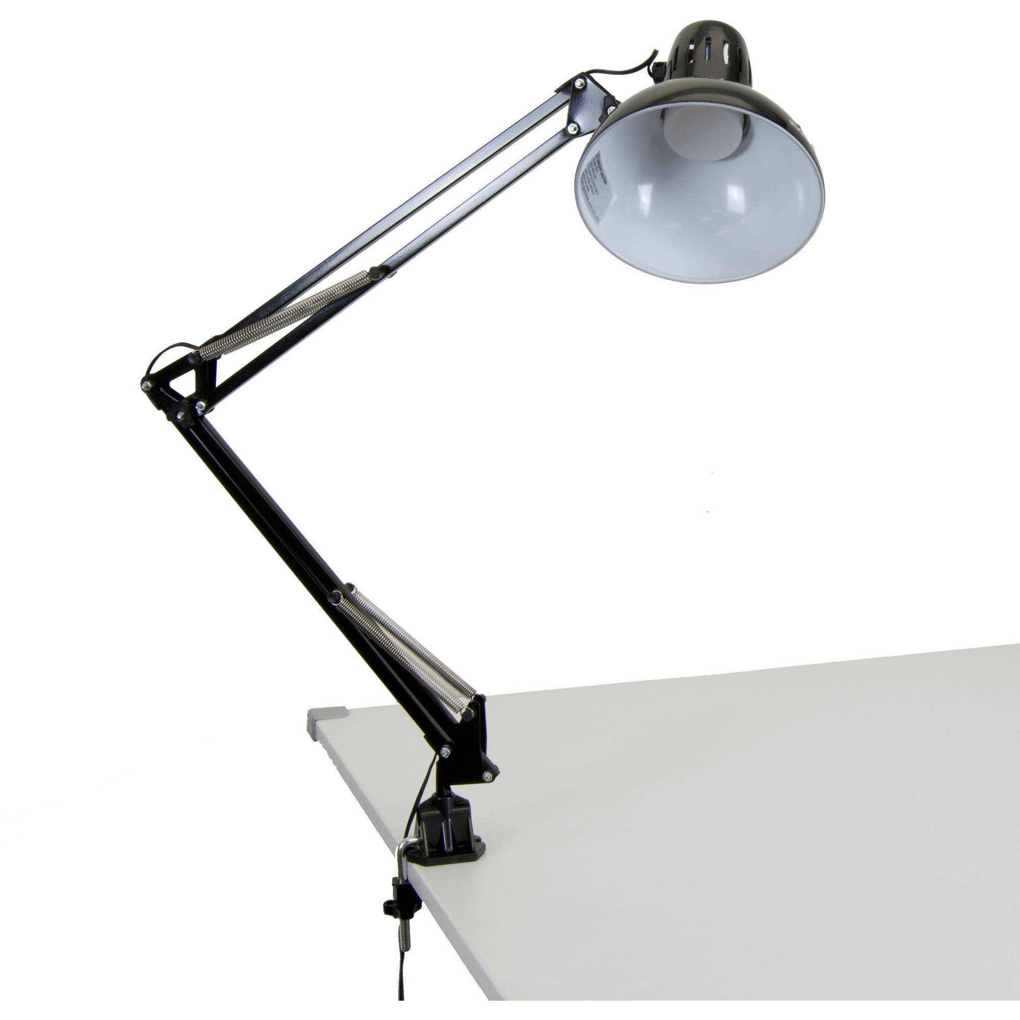 LED Swing Arm Lamp, Black by Studio Designs Inc