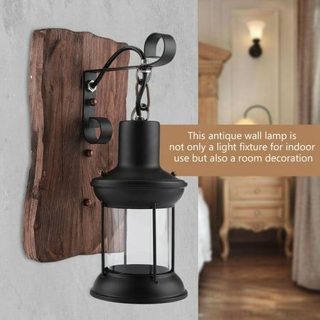Topincn Antique Vintage Iron Wall Mount Lamp Indoor Room Hallway Corridor Bar Light Fixture Decor 110v