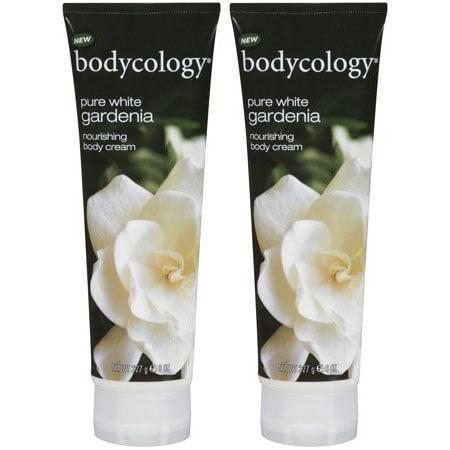 (2 Pack) Bodycology Pure White Gardenia Nourishing Body Cream Tube, 8 oz