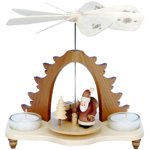 Christian Ulbricht Triangular Pyramid with Santa, Presents and a Tree
