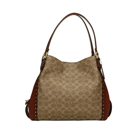 Coach Edie Shoulder Bag 31 In Signature Canvas With Border Rivets 30220B4RU