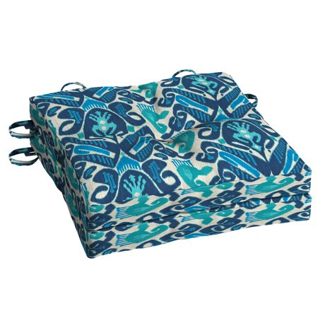 Mainstays Sego Bay 15x15in. Outdoor Square Bistro Cushion, Set of 2 ()