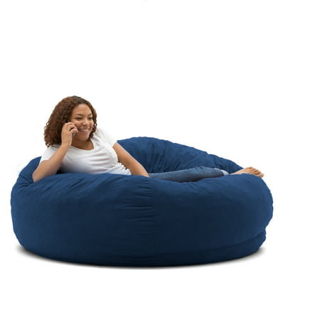 Outstanding King 5 Fuf Comfort Suede Bean Bag Chair Multiple Colors Beatyapartments Chair Design Images Beatyapartmentscom