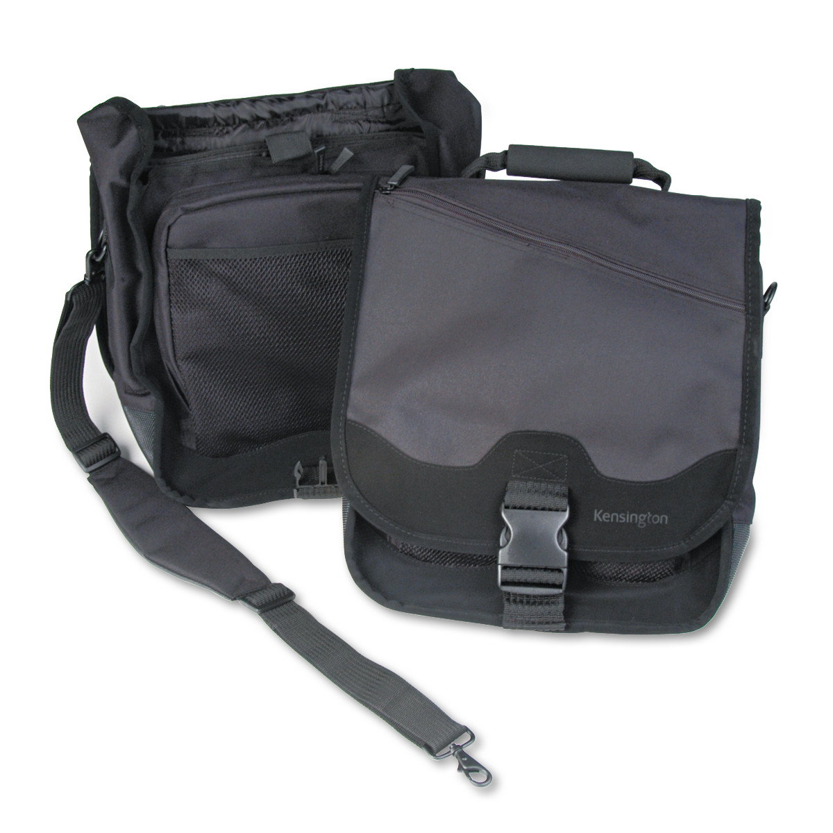 Kensington SaddleBag Laptop Carrying Case, 14-1/4 x 6-1/2 x 16-1/2, Black
