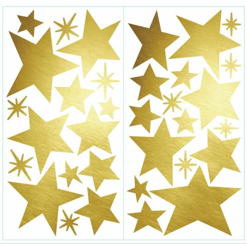 Star Peel and Stick Wall Decals with Foil