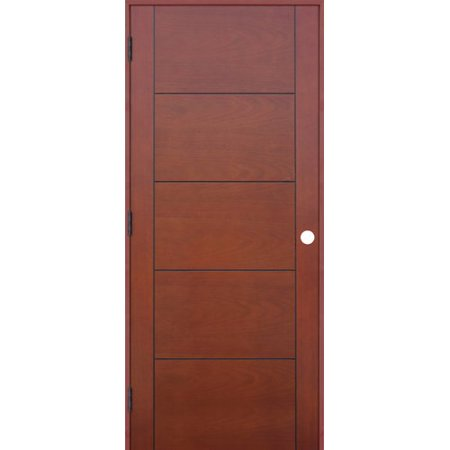 - Creative Entryways Flush Wood Hollow Finish Contemporary Standard Door