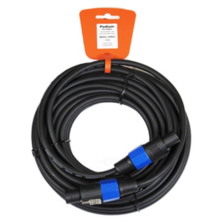 Podium Pro SPM50 Pro Audio 50 Foot 12 Gauge Speaker Cable Male Speakon to Male Speakon ()
