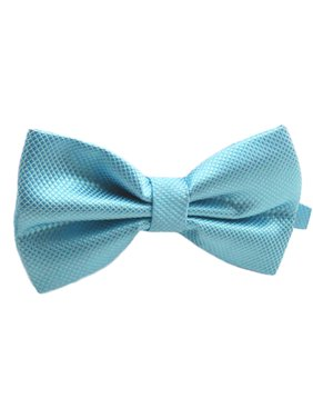 Mens Pre-Tied Blue Bow Tie for Formal Events