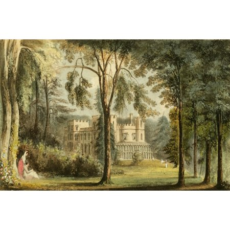 Mission Lodge Arts - Repository of Arts 1817 Sophia lodge back view Canvas Art - J Gendall (18 x 24)