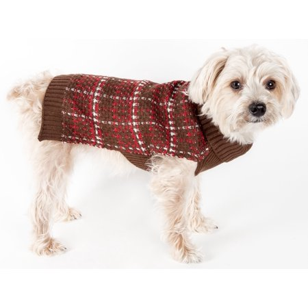 Chunky Knit Dog Sweater (Vintage Symphony Static Fashion Knitted Dog Sweater)