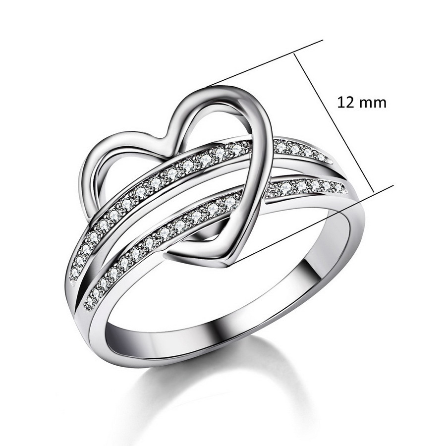 HBOS Fashion Jewelry Natural Crystal Ring High-end Couple Zircon Ring