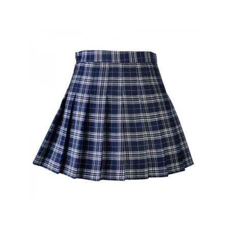 4a90c9220902 Ropalia - Ropalia New Women's Skirts College High Waist Slim Plaid Skirt  Pleated Skirt Fashion Dress Mini Skirt With Safety Pants - Walmart.com