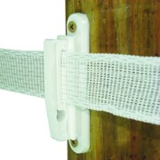 "Field Guardian Wood Post, 2"" Polytape Nail on Insulator, White, 25-Pack"
