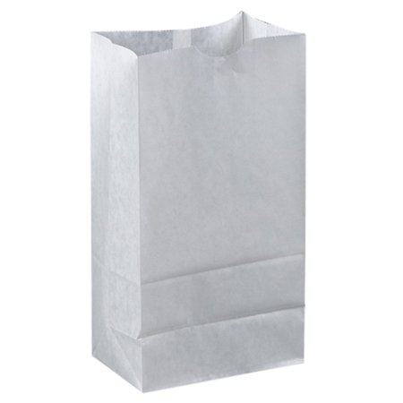 Brown Paper Goods Plain Wax Coated Bakery Bag White 6 Lb 1000 Case