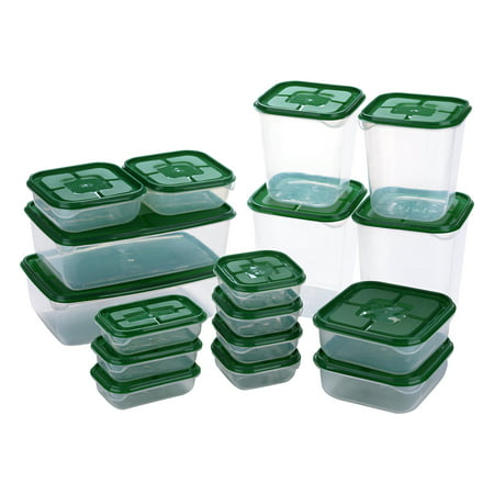 IMAGE 17-piece Food Storage Containers with Airtight Lids Stackable Ideal for Storage Nuts / Fruits / Vegetable / Meat / Bread / Granola / Beans ()