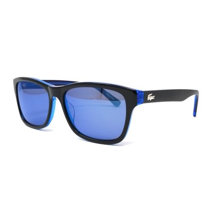 LACOSTE Sunglasses L683S 002 Black Square Unisex 55x16x140 (Sunglasses Lacoste Black)