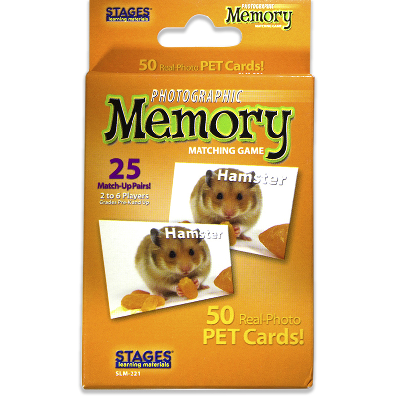 Picture Memory Pets Card Game Real Photo Concentration Game