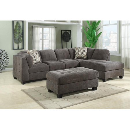Trinton sectional left side facing sofa right side facing for Walmart grey sectional sofa